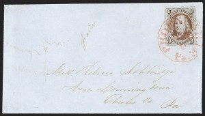 "Sale Number 1196, Lot Number 754, 5c 1847 Issue5c Red Brown, Dot in ""S"" (1 var), 5c Red Brown, Dot in ""S"" (1 var)"