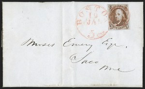"Sale Number 1196, Lot Number 762, 5c 1847 Issue5c Red Brown, Dot in ""S"" (1 var), 5c Red Brown, Dot in ""S"" (1 var)"