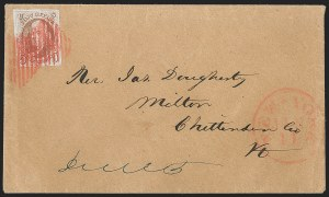 "Sale Number 1196, Lot Number 765, 5c 1847 Issue5c Red Brown, Dot in ""S"" (1 var), 5c Red Brown, Dot in ""S"" (1 var)"