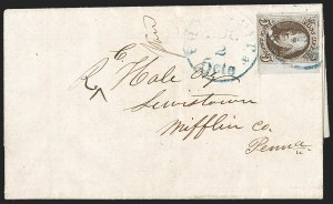 Sale Number 1196, Lot Number 786, 5c 1847 Issue5c Dark Brown, Double Transfer Ty. B (1a-B), 5c Dark Brown, Double Transfer Ty. B (1a-B)