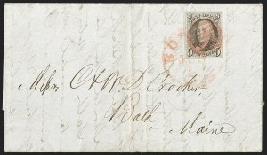 Sale Number 1196, Lot Number 788, 5c 1847 Issue5c Brown, Double Transfer Ty. E (1-E), 5c Brown, Double Transfer Ty. E (1-E)