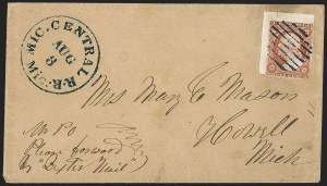 Sale Number 1196, Lot Number 807, 1851-56 Issue3c Orange Brown, Ty. II (10A), 3c Orange Brown, Ty. II (10A)