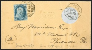 Sale Number 1196, Lot Number 822, 1857-60 Issue1c Blue, Ty. I (18), 1c Blue, Ty. I (18)