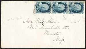 Sale Number 1196, Lot Number 826, 1857-60 Issue1c Blue, Ty. IIIa/III/IIIa (22/21/22), 1c Blue, Ty. IIIa/III/IIIa (22/21/22)