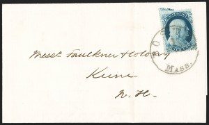 Sale Number 1196, Lot Number 827, 1857-60 Issue1c Blue, Ty. IIIa (22), 1c Blue, Ty. IIIa (22)