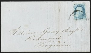 Sale Number 1196, Lot Number 830, 1857-60 Issue1c Blue, Ty. IV (23), 1c Blue, Ty. IV (23)