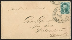 Sale Number 1196, Lot Number 832, 1857-60 Issue10c Green, Ty. IV (34), 10c Green, Ty. IV (34)
