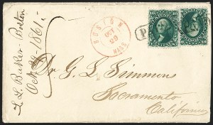 Sale Number 1196, Lot Number 846, 1861-68 Issues10c Dark Green, First Design (62B), 10c Dark Green, First Design (62B)