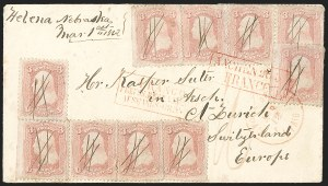 Sale Number 1196, Lot Number 847, 1861-68 Issues3c Pink (64), 3c Pink (64)