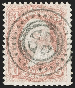 Sale Number 1196, Lot Number 852, 1861-68 Issues3c Rose (65), 3c Rose (65)