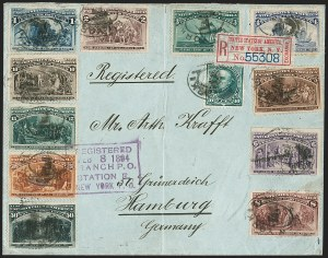 Sale Number 1196, Lot Number 891, Columbian & Trans-Mississippi Issues1c-50c Columbian (230-240), 1c-50c Columbian (230-240)