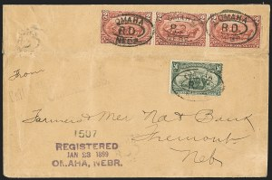 Sale Number 1196, Lot Number 906, Columbian & Trans-Mississippi Issues50c Trans-Mississippi (291), 50c Trans-Mississippi (291)