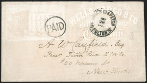 Sale Number 1196, Lot Number 969, Local PostsBoyd's Dispatch 39 Fulton St. Sep. 28, 186?, Boyd's Dispatch 39 Fulton St. Sep. 28, 186?