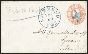 Sale Number 1196, Lot Number 978, Confederate States: Independent and CSA Uses of U.S. StampsRichmond Tex. Feb. 20 (1861), Richmond Tex. Feb. 20 (1861)