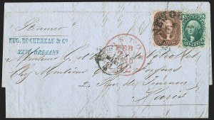Sale Number 1196, Lot Number 986, Confederate States: Independent and CSA Uses of U.S. StampsNew Orleans La. 21 Feb. (1861), New Orleans La. 21 Feb. (1861)