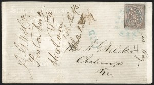 Sale Number 1196, Lot Number 993, Confederate States: Postmasters' ProvisionalsNashville Tenn., 5c Violet Brown (61X5), Nashville Tenn., 5c Violet Brown (61X5)