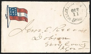 Sale Number 1196, Lot Number 997, Confederate States: Handstamped Paid and DueWilmington N.C. Paid 5 Oct. 11 (1861), Wilmington N.C. Paid 5 Oct. 11 (1861)