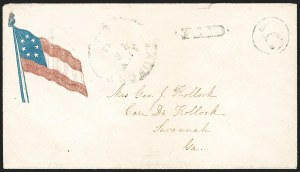 Sale Number 1196, Lot Number 998, Confederate States: Handstamped Paid and DueBeaufort S.C. Jun. 26, 1861, Beaufort S.C. Jun. 26, 1861