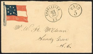 Sale Number 1196, Lot Number 999, Confederate States: Handstamped Paid and DueCharleston S.C. Jun. 29, 1861, Charleston S.C. Jun. 29, 1861