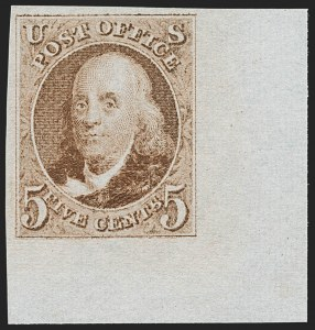 Sale Number 1197, Lot Number 1565, 1875 Reproduction of 1847 Issue (Scott 3-4)5c Red Brown, Reproduction (3), 5c Red Brown, Reproduction (3)