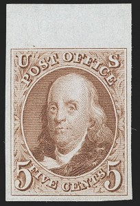 Sale Number 1197, Lot Number 1566, 1875 Reproduction of 1847 Issue (Scott 3-4)5c Red Brown, Reproduction (3), 5c Red Brown, Reproduction (3)