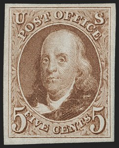 Sale Number 1197, Lot Number 1567, 1875 Reproduction of 1847 Issue (Scott 3-4)5c Red Brown, Reproduction (3), 5c Red Brown, Reproduction (3)