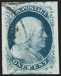 Sale Number 1197, Lot Number 1577, 1851-56 Issue (Scott 7-17)1c Blue, Ty. II (7), 1c Blue, Ty. II (7)