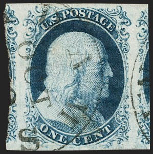 Sale Number 1197, Lot Number 1579, 1851-56 Issue (Scott 7-17)1c Blue, Ty. IIIa (8A), 1c Blue, Ty. IIIa (8A)
