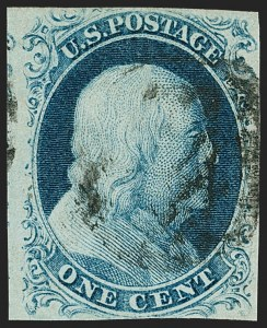 Sale Number 1197, Lot Number 1581, 1851-56 Issue (Scott 7-17)1c Blue, Ty. IIIa (8A), 1c Blue, Ty. IIIa (8A)