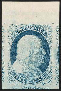 Sale Number 1197, Lot Number 1583, 1851-56 Issue (Scott 7-17)1c Blue, Ty. IV (9), 1c Blue, Ty. IV (9)
