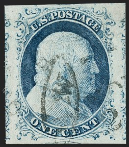 Sale Number 1197, Lot Number 1584, 1851-56 Issue (Scott 7-17)1c Blue, Ty. IV (9), 1c Blue, Ty. IV (9)