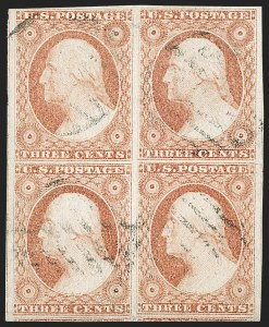 Sale Number 1197, Lot Number 1587, 1851-56 Issue (Scott 7-17)3c Dull Red, Ty. I (11), 3c Dull Red, Ty. I (11)