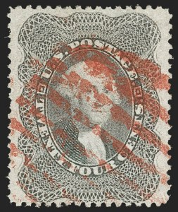 Sale Number 1197, Lot Number 1635, 1857-60 Issue (Scott 18-39)24c Gray Lilac (37), 24c Gray Lilac (37)