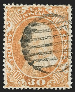 Sale Number 1197, Lot Number 1638, 1857-60 Issue (Scott 18-39)30c Orange (38), 30c Orange (38)