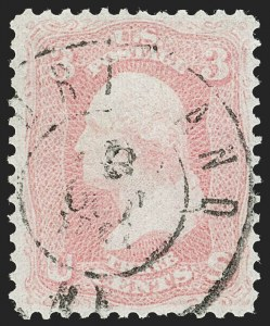 Sale Number 1197, Lot Number 1648, 1861-66 Issue (Scott 56-78)3c Pink (64), 3c Pink (64)