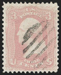 Sale Number 1197, Lot Number 1649, 1861-66 Issue (Scott 56-78)3c Pink (64), 3c Pink (64)