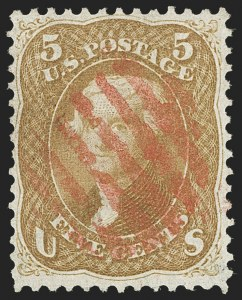 Sale Number 1197, Lot Number 1656, 1861-66 Issue (Scott 56-78)5c Buff (67), 5c Buff (67)