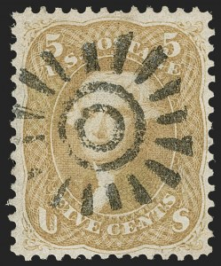 Sale Number 1197, Lot Number 1657, 1861-66 Issue (Scott 56-78)5c Brown Yellow (67a), 5c Brown Yellow (67a)