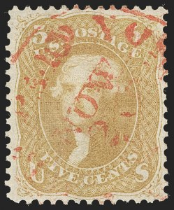 Sale Number 1197, Lot Number 1658, 1861-66 Issue (Scott 56-78)5c Brown Yellow (67a), 5c Brown Yellow (67a)