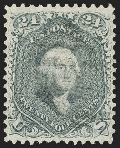 Sale Number 1197, Lot Number 1660, 1861-66 Issue (Scott 56-78)24c Steel Blue (70b), 24c Steel Blue (70b)