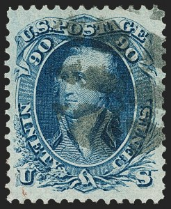 Sale Number 1197, Lot Number 1661, 1861-66 Issue (Scott 56-78)90c Blue (72), 90c Blue (72)