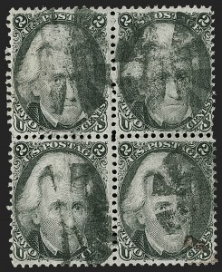 Sale Number 1197, Lot Number 1673, 1861-66 Issue (Scott 56-78)2c Black (73), 2c Black (73)