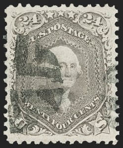 Sale Number 1197, Lot Number 1684, 1861-66 Issue (Scott 56-78)24c Lilac (78), 24c Lilac (78)