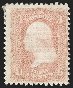 Sale Number 1197, Lot Number 1687, 1867-68 Grilled Issue (Scott 79-101)3c Rose, C. Grill (83), 3c Rose, C. Grill (83)