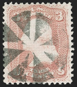 Sale Number 1197, Lot Number 1692, 1867-68 Grilled Issue (Scott 79-101)3c Rose, D. Grill (85), 3c Rose, D. Grill (85)