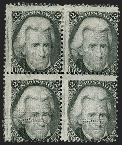 Sale Number 1197, Lot Number 1693, 1867-68 Grilled Issue (Scott 79-101)2c Black, Z. Grill (85B), 2c Black, Z. Grill (85B)