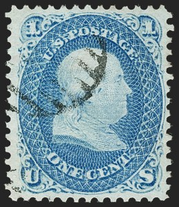 Sale Number 1197, Lot Number 1696, 1867-68 Grilled Issue (Scott 79-101)1c Blue, E. Grill (86), 1c Blue, E. Grill (86)