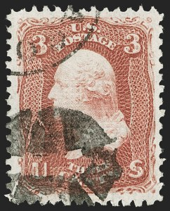 Sale Number 1197, Lot Number 1699, 1867-68 Grilled Issue (Scott 79-101)3c Lake Red, E. Grill (88a), 3c Lake Red, E. Grill (88a)