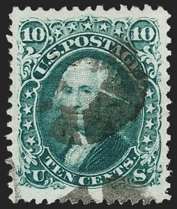 Sale Number 1197, Lot Number 1700, 1867-68 Grilled Issue (Scott 79-101)10c Green, E. Grill (89), 10c Green, E. Grill (89)