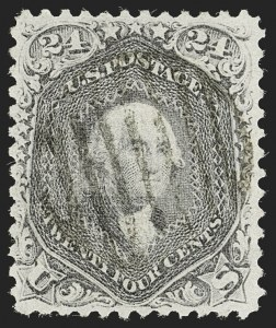 Sale Number 1197, Lot Number 1707, 1867-68 Grilled Issue (Scott 79-101)24c Gray Lilac, F. Grill (99), 24c Gray Lilac, F. Grill (99)
